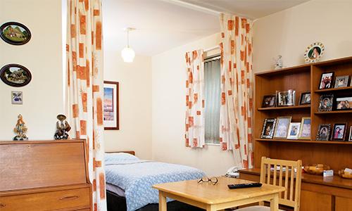 Sheltered accommodation. Thomas horsely house bedroom